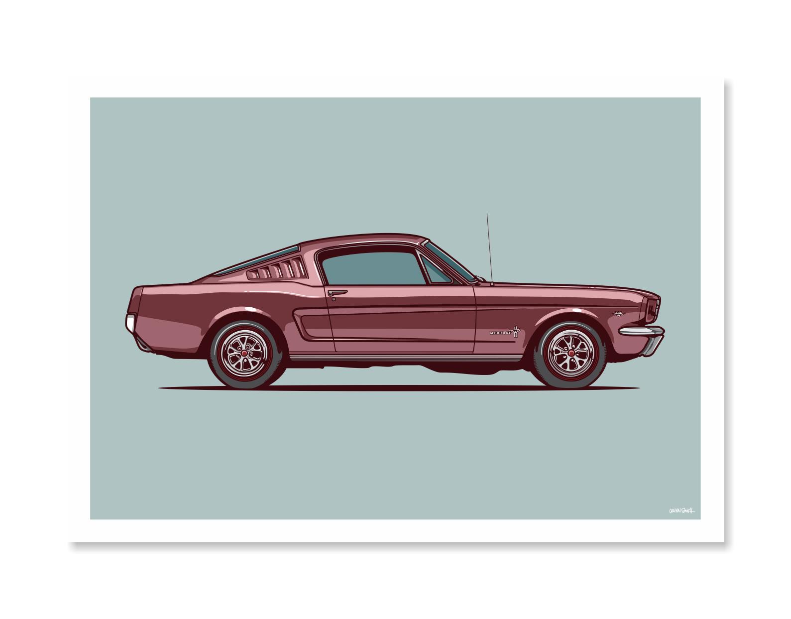 Ford Mustang Art Print Define Art Graphic Design Studio